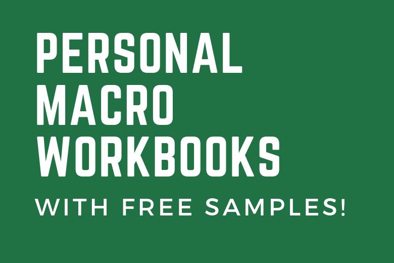 Personal Macro Workbook cover image