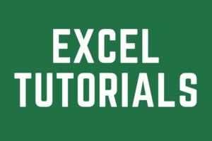 Link to Excel Tutorials