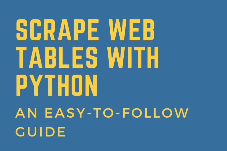 scrape web tables easily with python