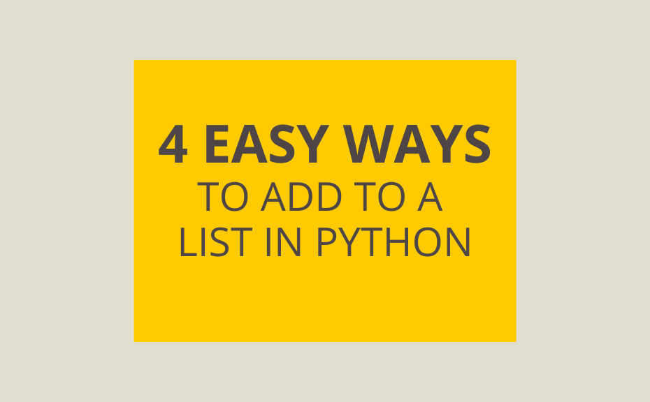 Append to Lists in Python Cover Image