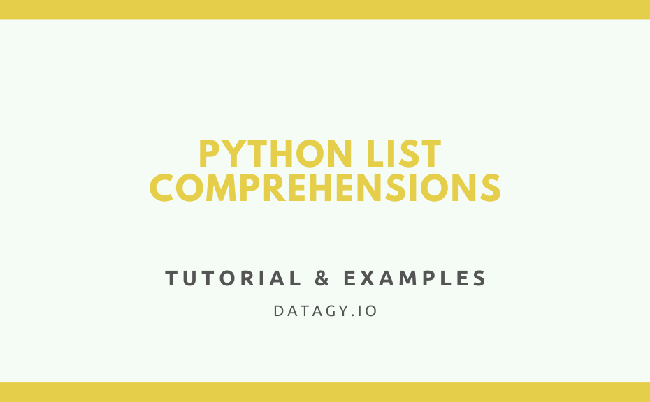 Python List Comprehensions Cover Image