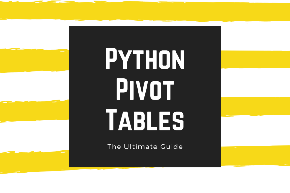 Cover Image for Python Pivot Tables Post