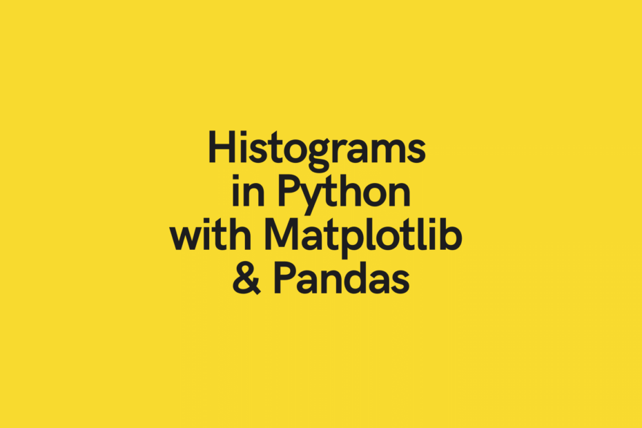 Create histogram with Python Pandas Matplotlib