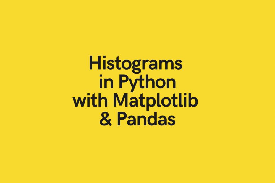 Create histogram with Python Pandas Matplotlib
