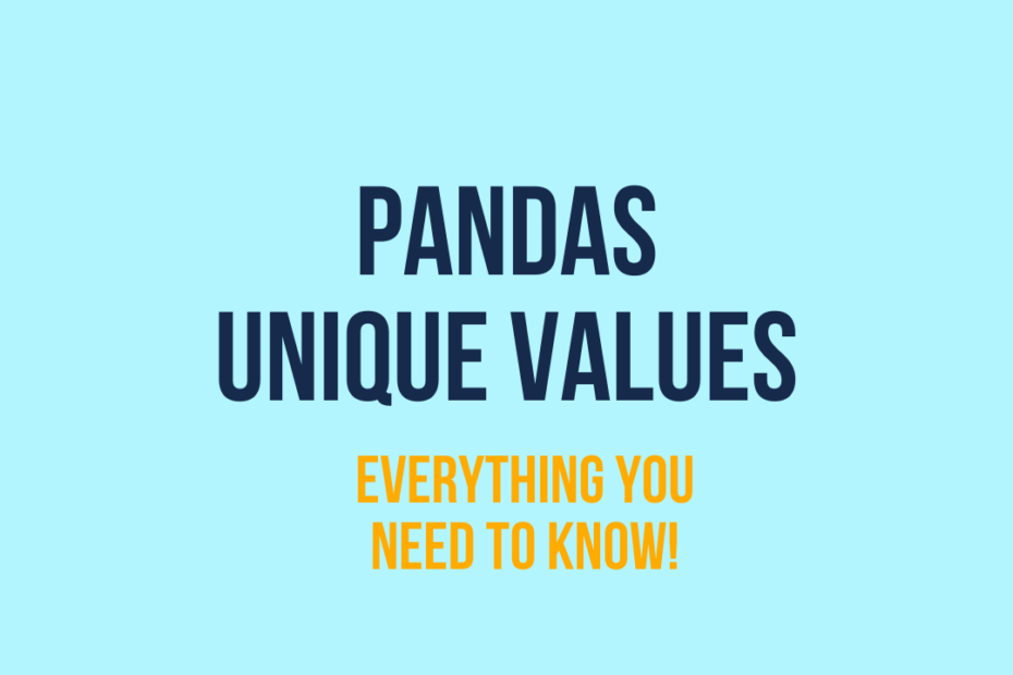 Pandas unique values cover image
