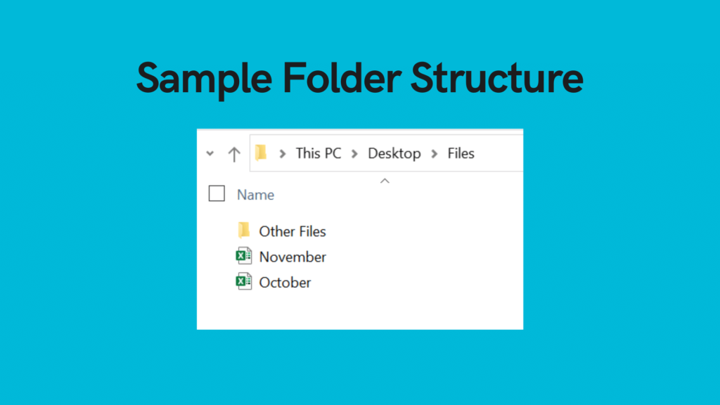 Sample folder structure for list all files in a directory with python glob and os listdir