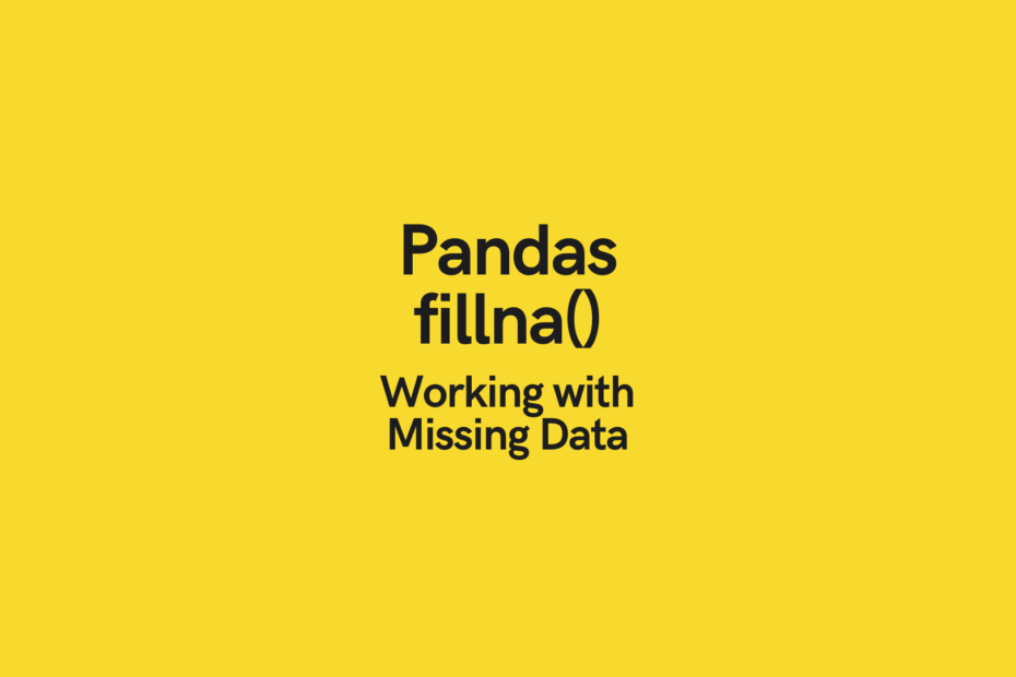Pandas Fillna Cover Image
