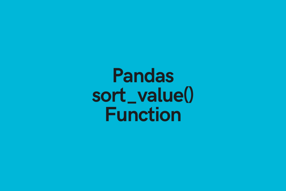 Pandas sort_values function cover image