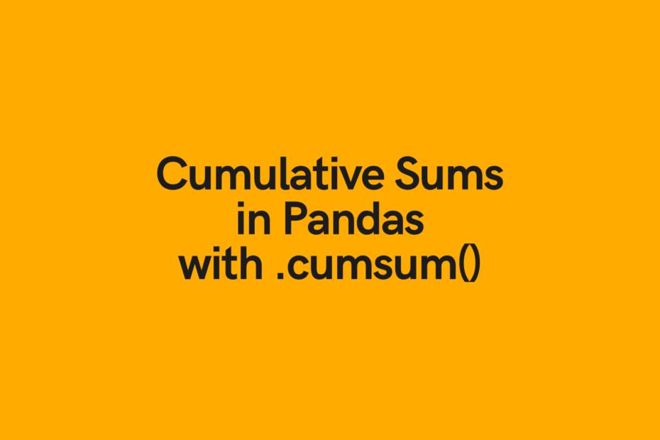 Pandas Cumulative Sum Cover Image