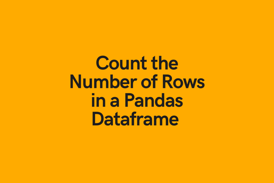 Pandas number of rows cover image
