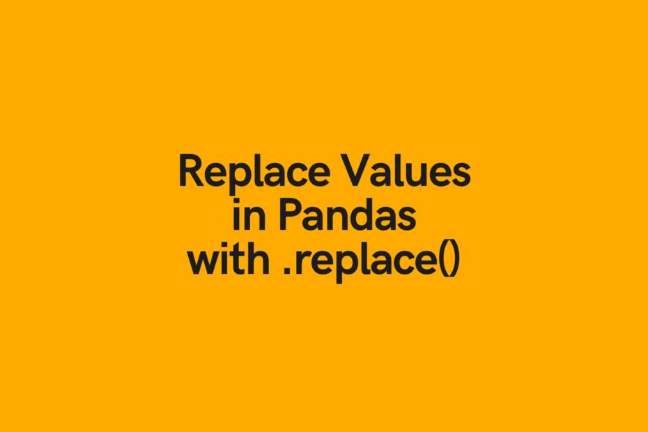 Pandas Replace Values Cover Image