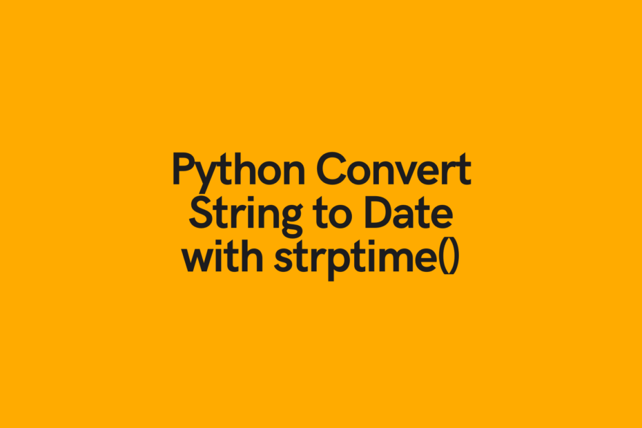 Python Convert string to date cover image