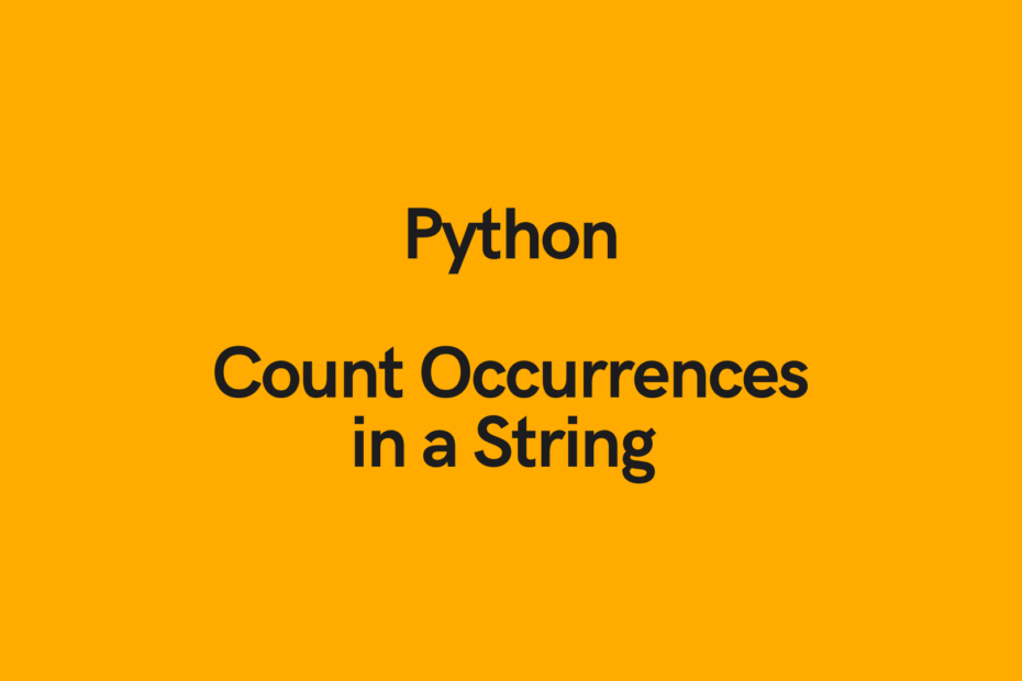 Python Count Occurrences in a String Cover Image