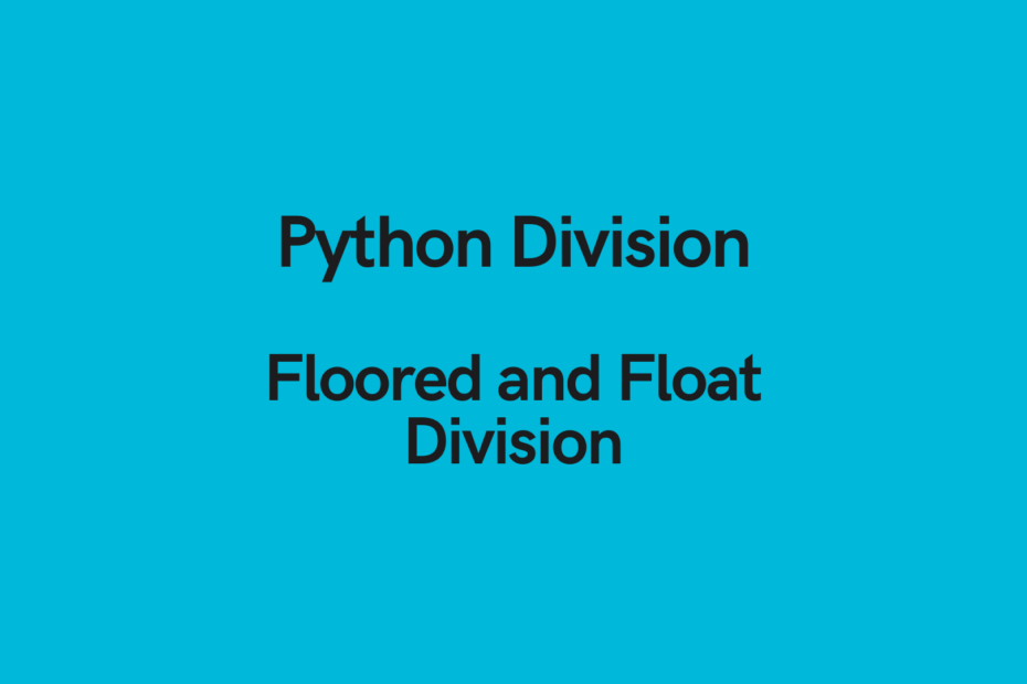 python division cover image