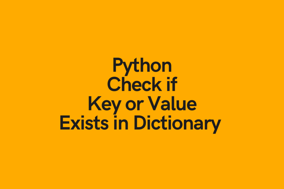 Python Check if Key Exists in a Dictionary Cover Image