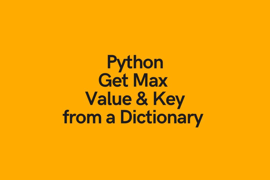 Python Dictionary Get Max Value Cover Image