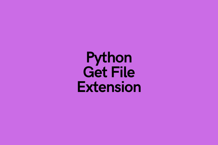 Python Get File Extension Cover Image