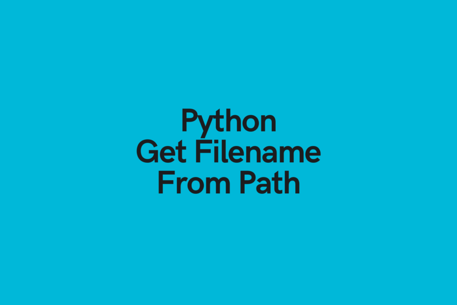 Python Get Filename from Path Cover Image