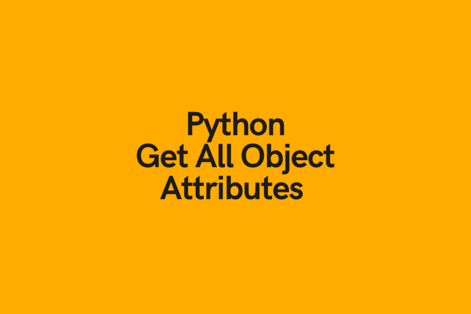 Python Print All Object Properties Cover Image