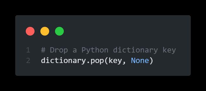 Quick Answer - Delete a Python Dictionary Key