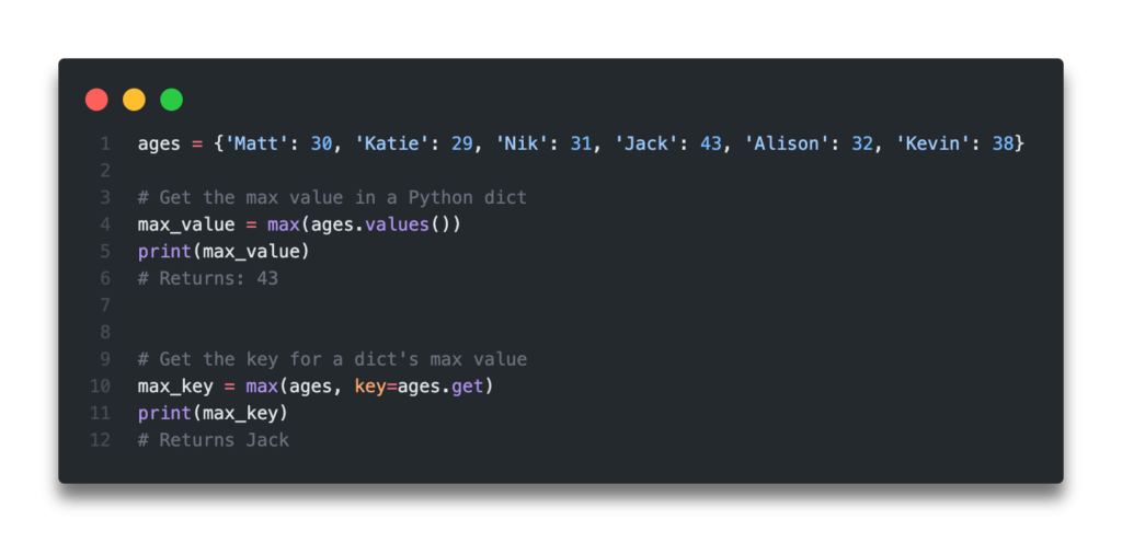 Quick Answer - Python Dictionary Get Max Value