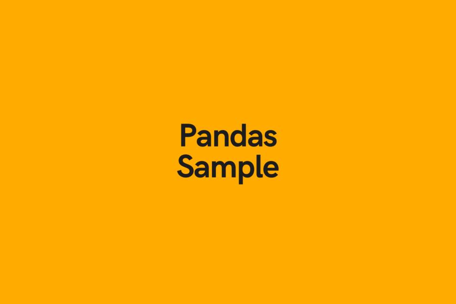 Pandas Sample Dataframe Cover Image