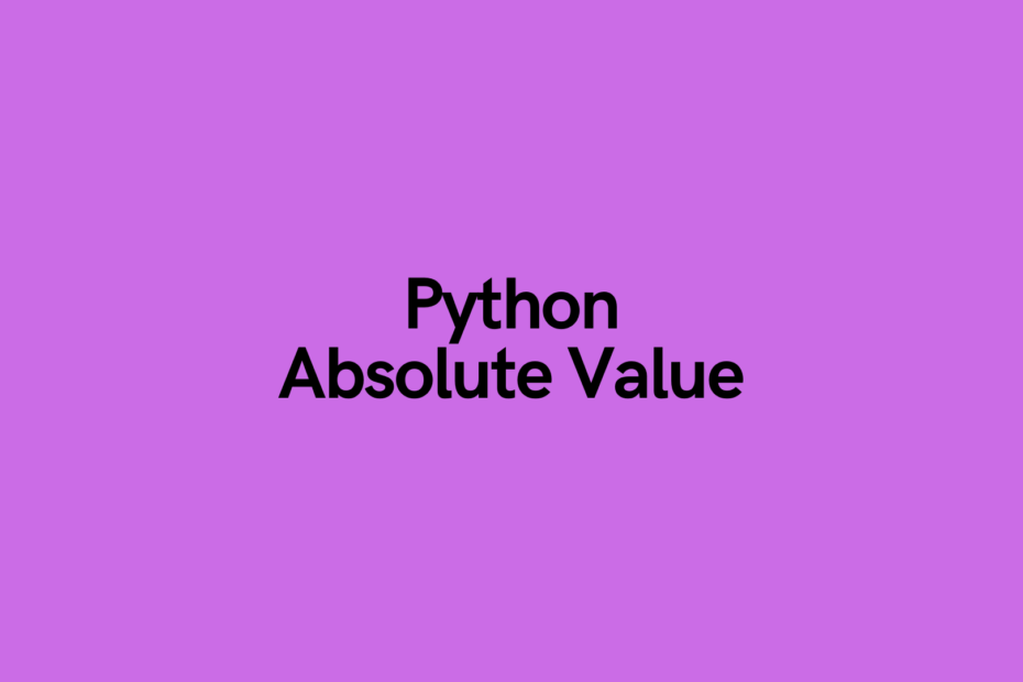 Python Absolute Value Cover Image