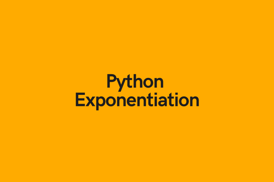 Python Exponentiation Cover Image