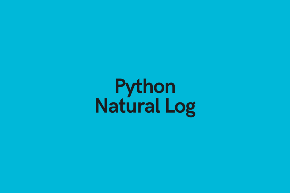 Python Natural Log Cover Image