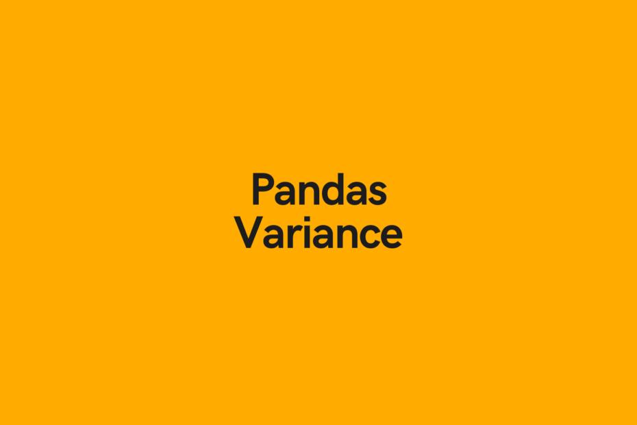 Python Pandas Variance Cover Image